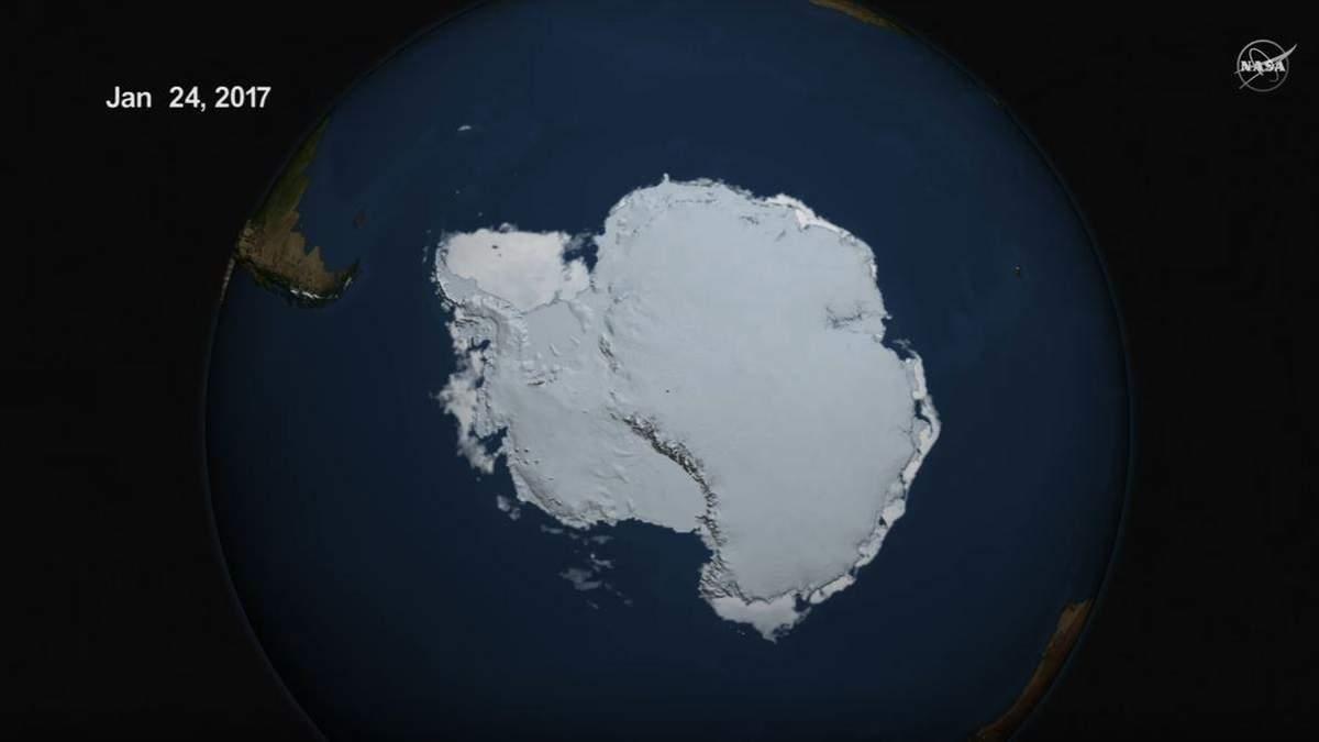 NASA опублікувало відео з рекордним таненням льоду в Арктиці