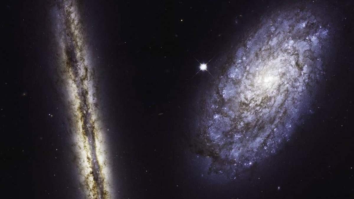 Космічний телескоп Hubble зробив неймовірний знімок двох спіральних галактик