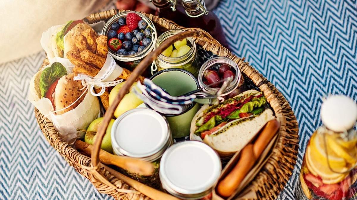 Блюда для пикника на природе