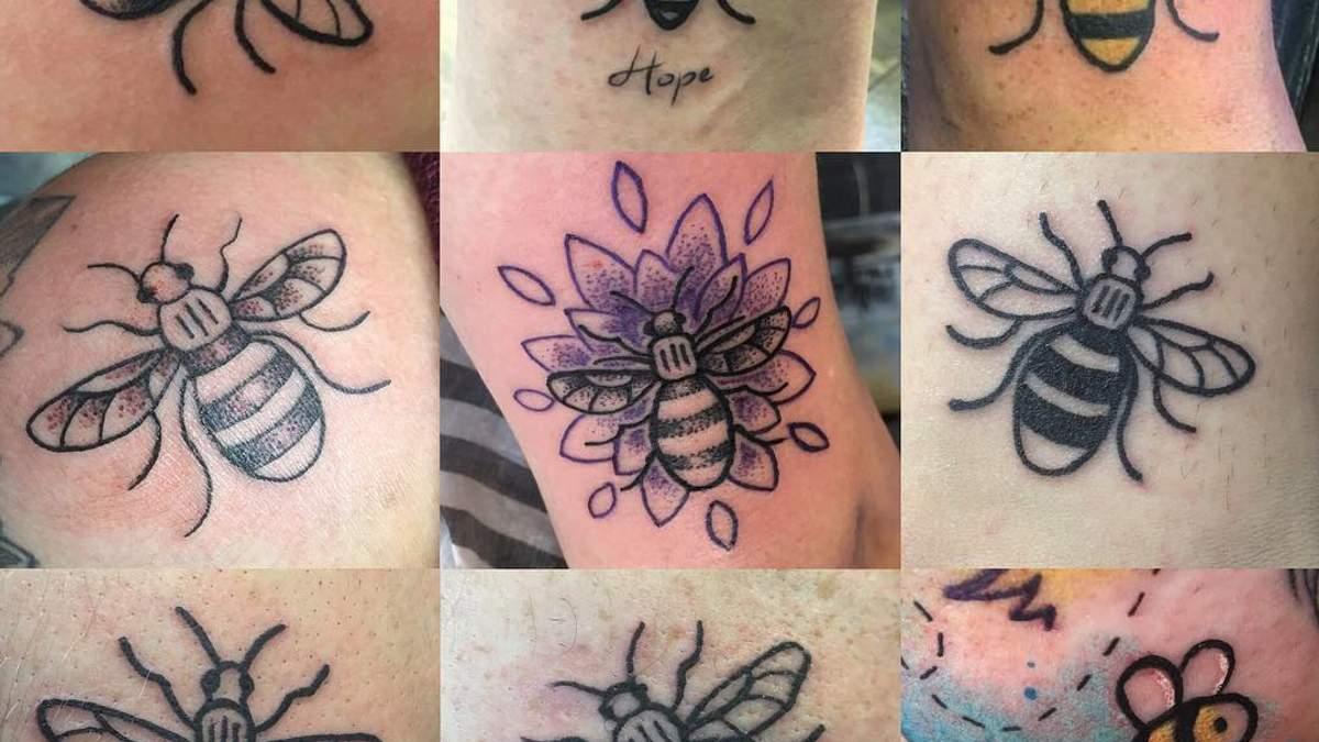 Тату в форме пчелы: британцы начали флешмоб в память о погибших в Манчестере