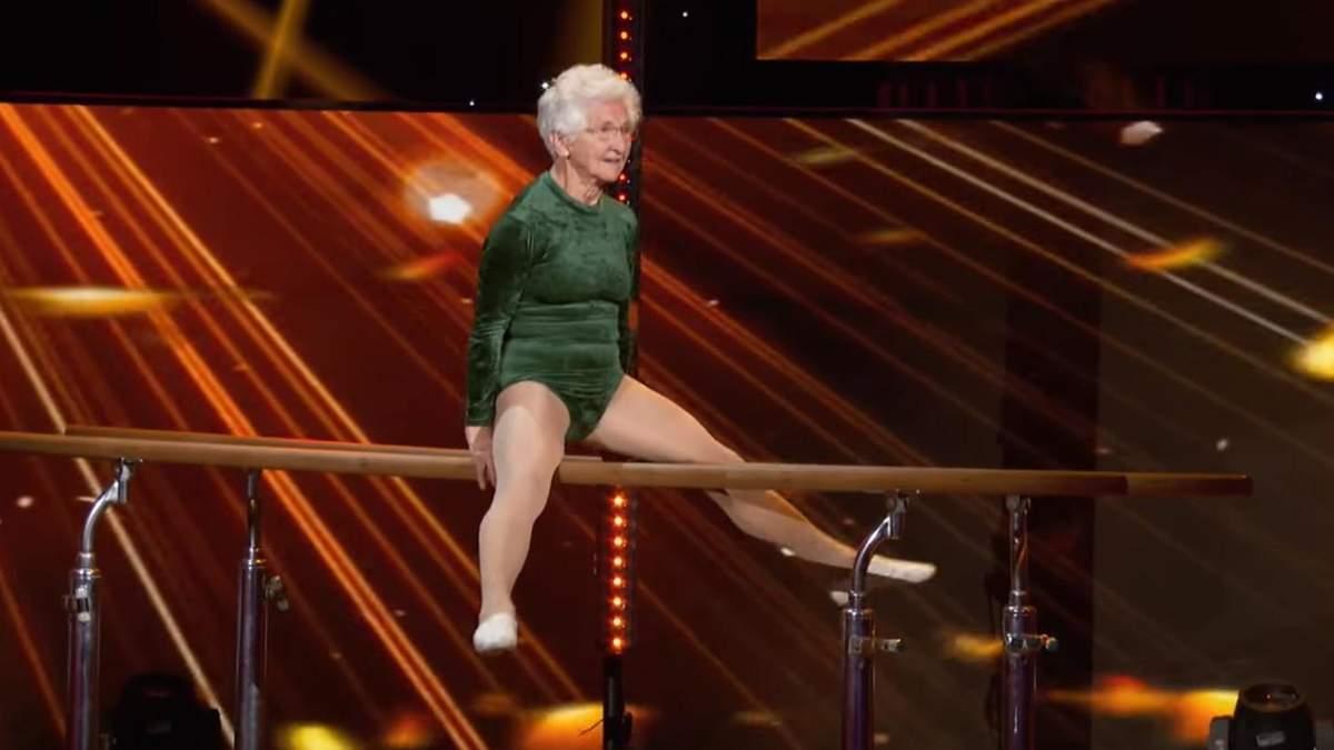 91-летняя гимнастка поразила всех своим выступлением: видео
