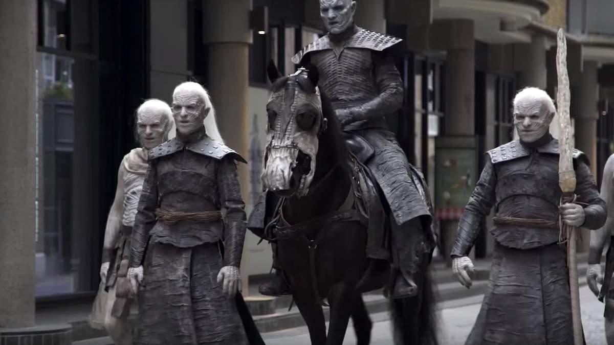 """Новый сезон близко: белые ходоки из """"Игры престолов"""" прошлись по Лондону"""