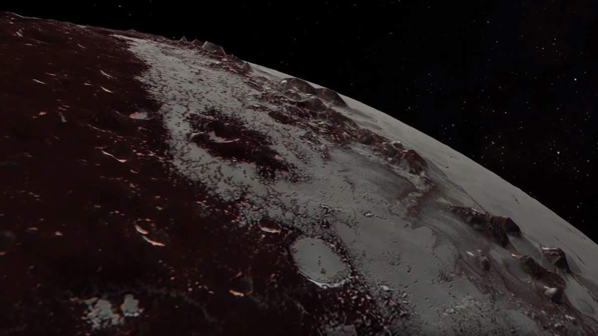 NASA опубликовали впечатляющие видеоролики с Плутона и Харона