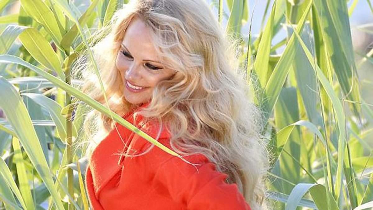 Памела Андерсон без белья позировала в кукурузе: фото