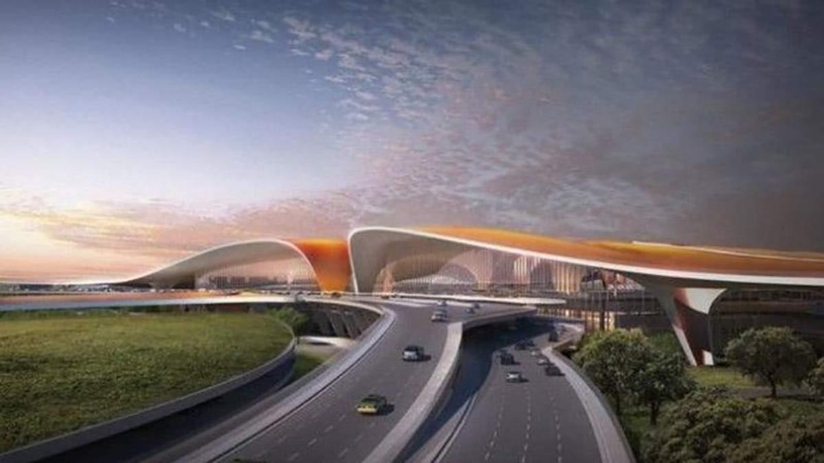 Найбільший у світі аеропорт побудують в Китаї: з'явились фото