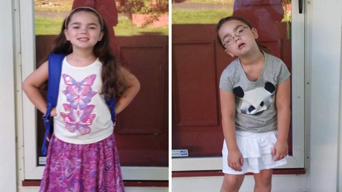 Дети до и после первого дня в школе: забавные сравнения