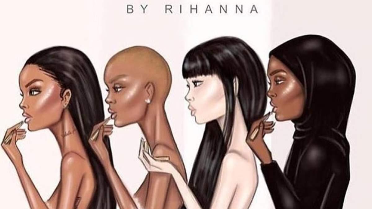 Ріанна випустила стильні відеоролики про її першу колекцію косметики