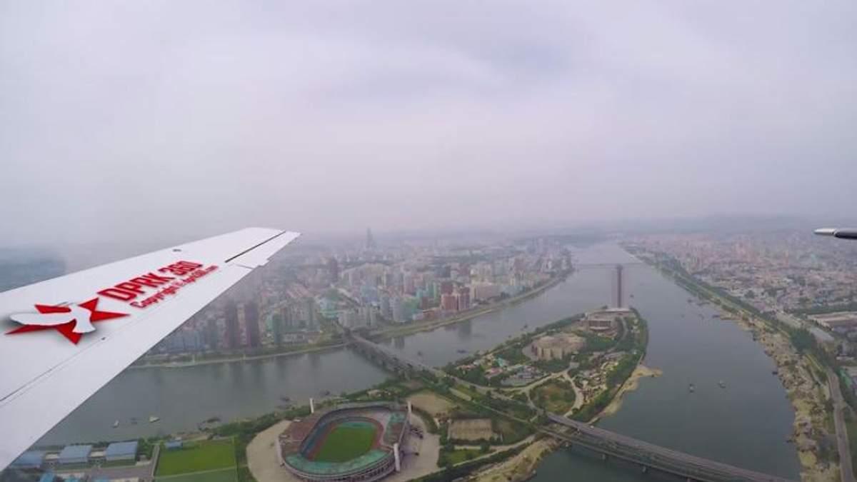 Фотограф показав столицю Північної Кореї з висоти: рідкісне відео