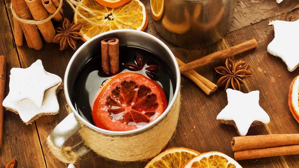 Рецепт глинтвейна с яблоком и лимоном - классический рецепт глинтвейна