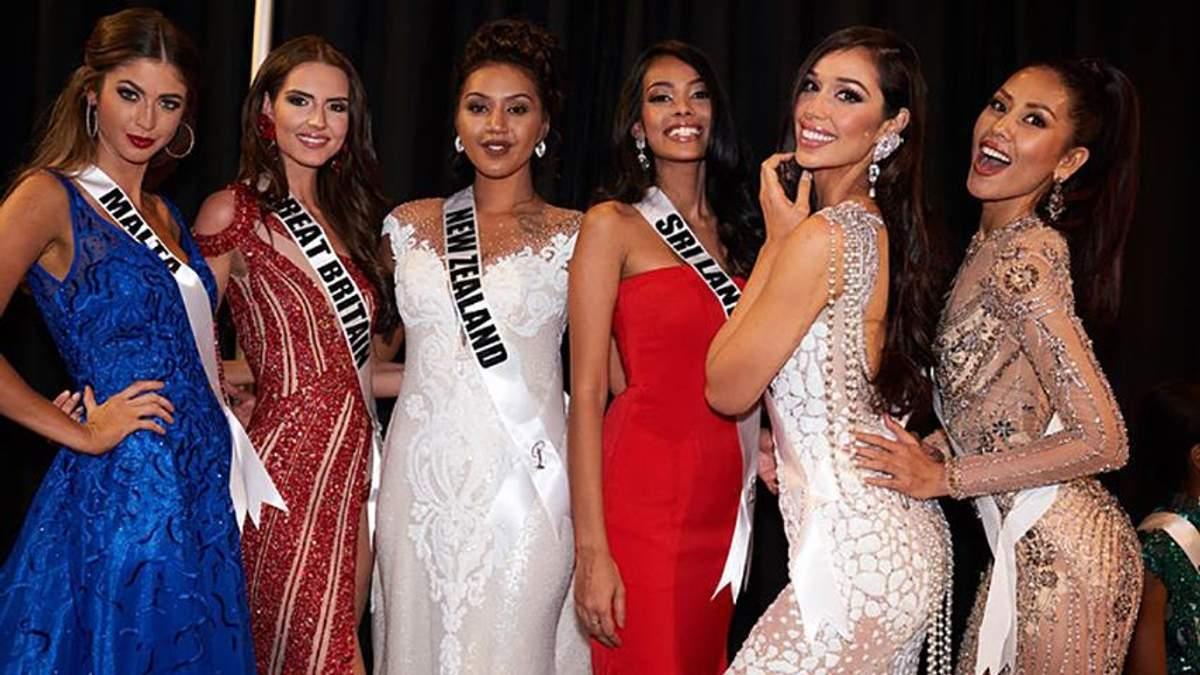 """Як учасниці  """"Міс Всесвіт-2017"""" готуються до фіналу конкурсу в Лас-Вегасі: фото красунь"""