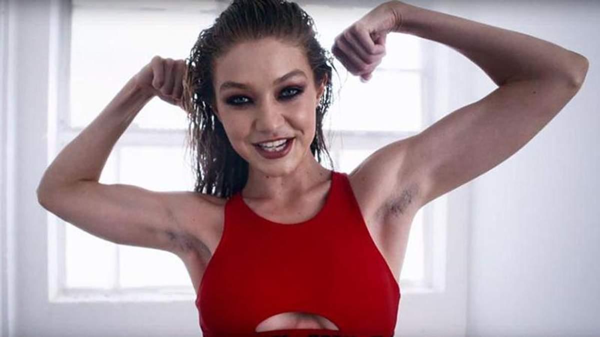 Модель Джіджі Хадід з небритими пахвами знялася у календарі Love Magazine: відео