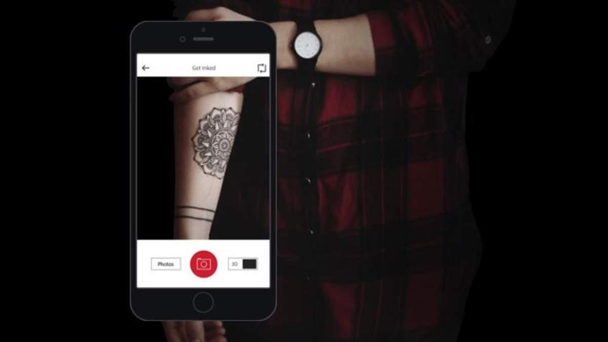 Український додаток Try Tattoo Design став одним з найкращих у рейтингу Apple