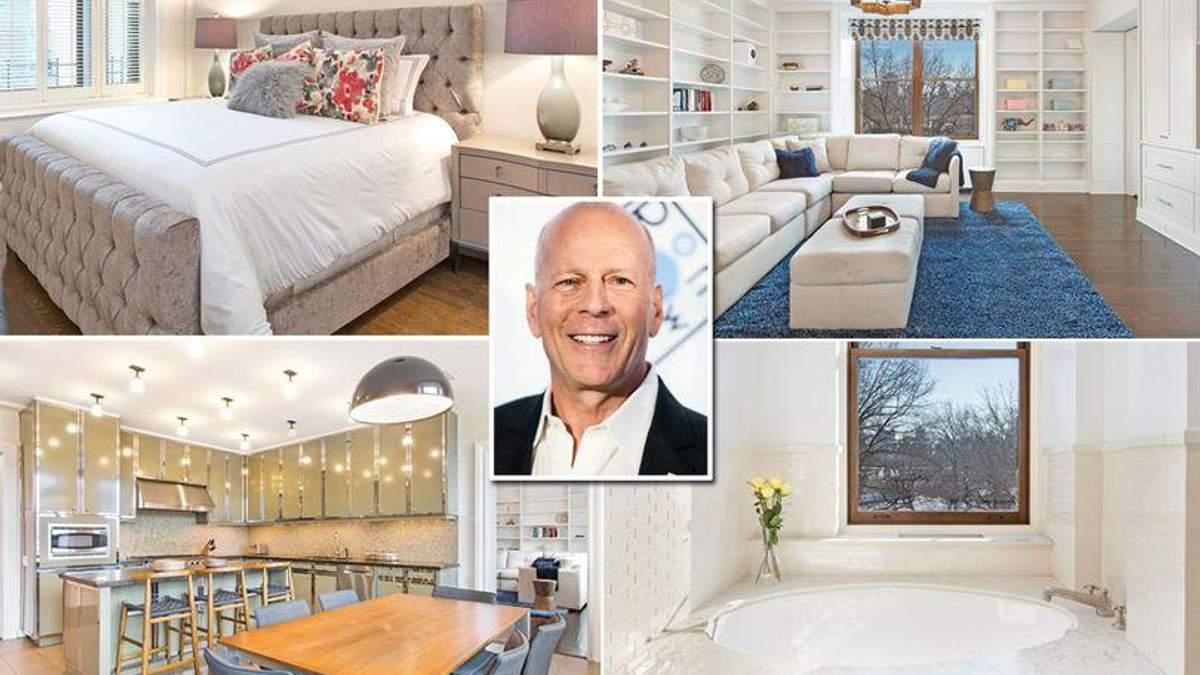 Брюс Вілліс виставив на продаж свою квартиру в Нью-Йорку: розкішні фото