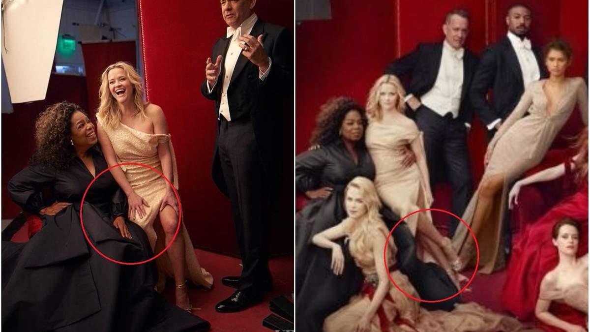 Курьез дня: на обложке Vanity Fair у Опры Уинфри насчитали три руки, а у Риз Уизерспун – три ноги