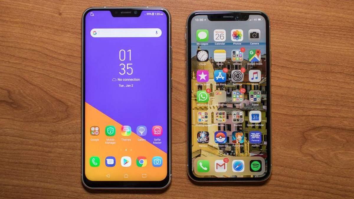Asus представила смартфони в стилі iPhone X