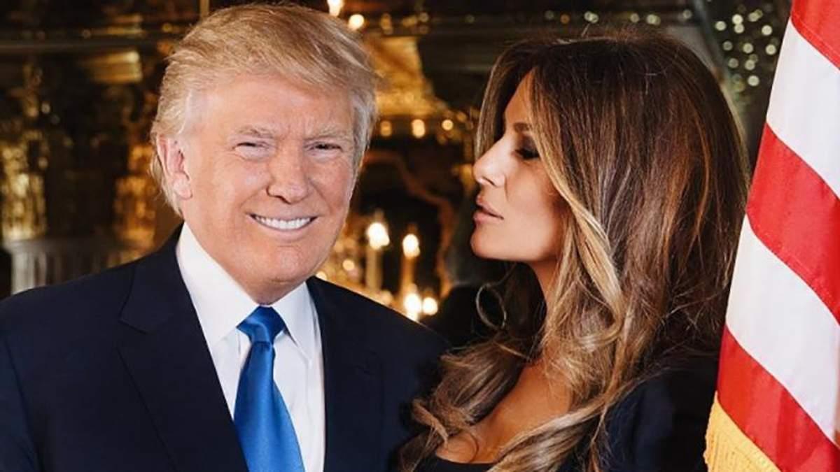 Мелания Трамп показала очаровательное фото с мужем