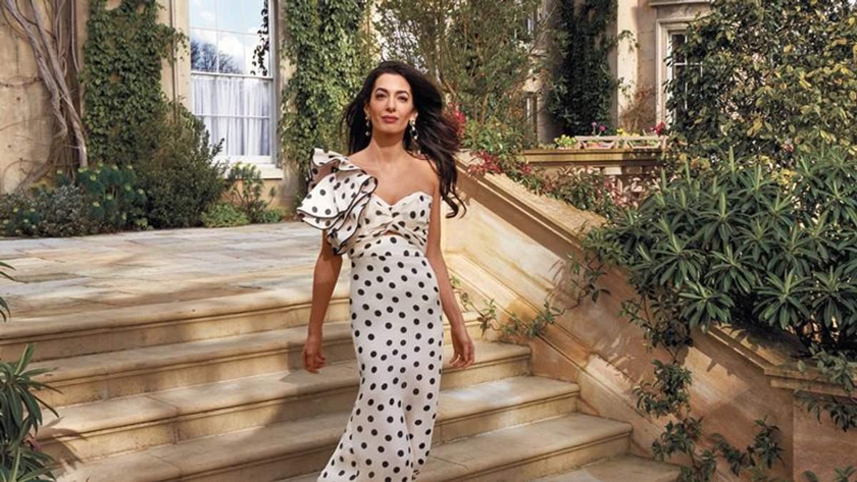 Амаль Клуні у зйомках для Vogue
