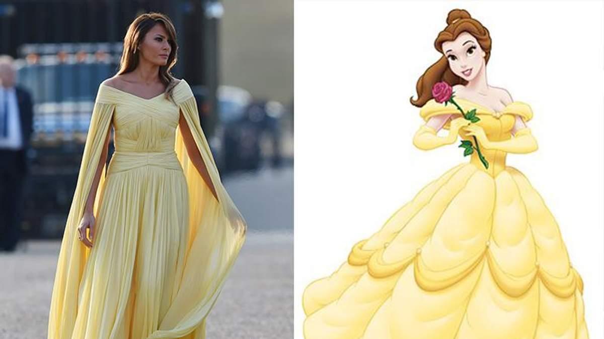 """Меланія Трамп та принцеса мультфільму """"Красуня і Чудовисько"""""""