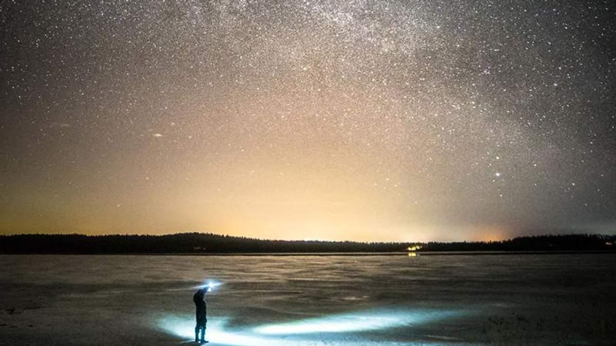 Красота Чумацього Пути в Финляндии