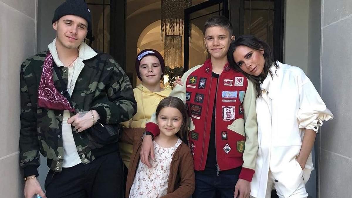 Вікторія Бекхем з дітьми