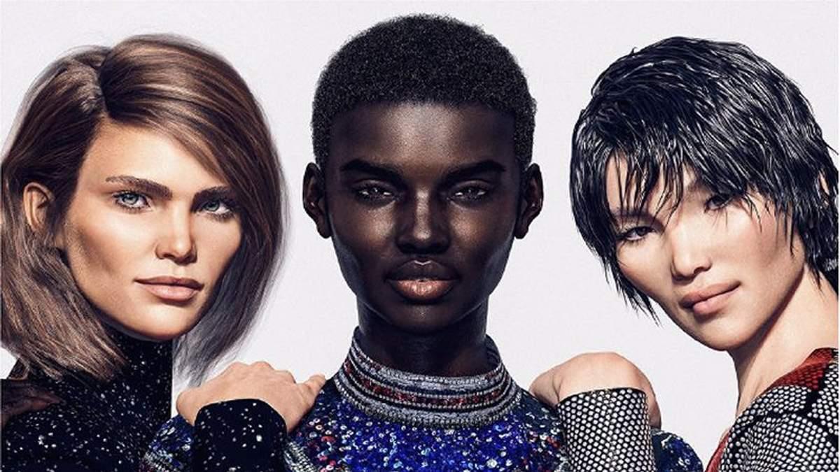 Виртуальные модели стали лицами Balmain
