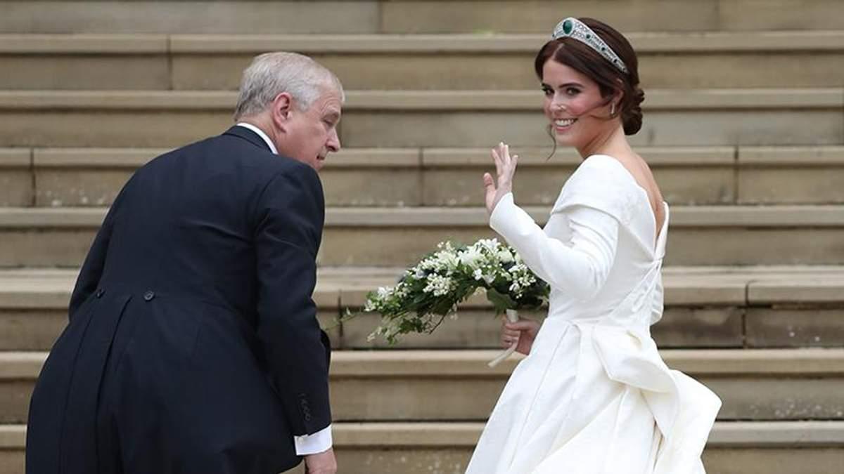 Свадьба принцессы Евгении и Джека Бруксбэнка: свадебное платье принцессы Евгении