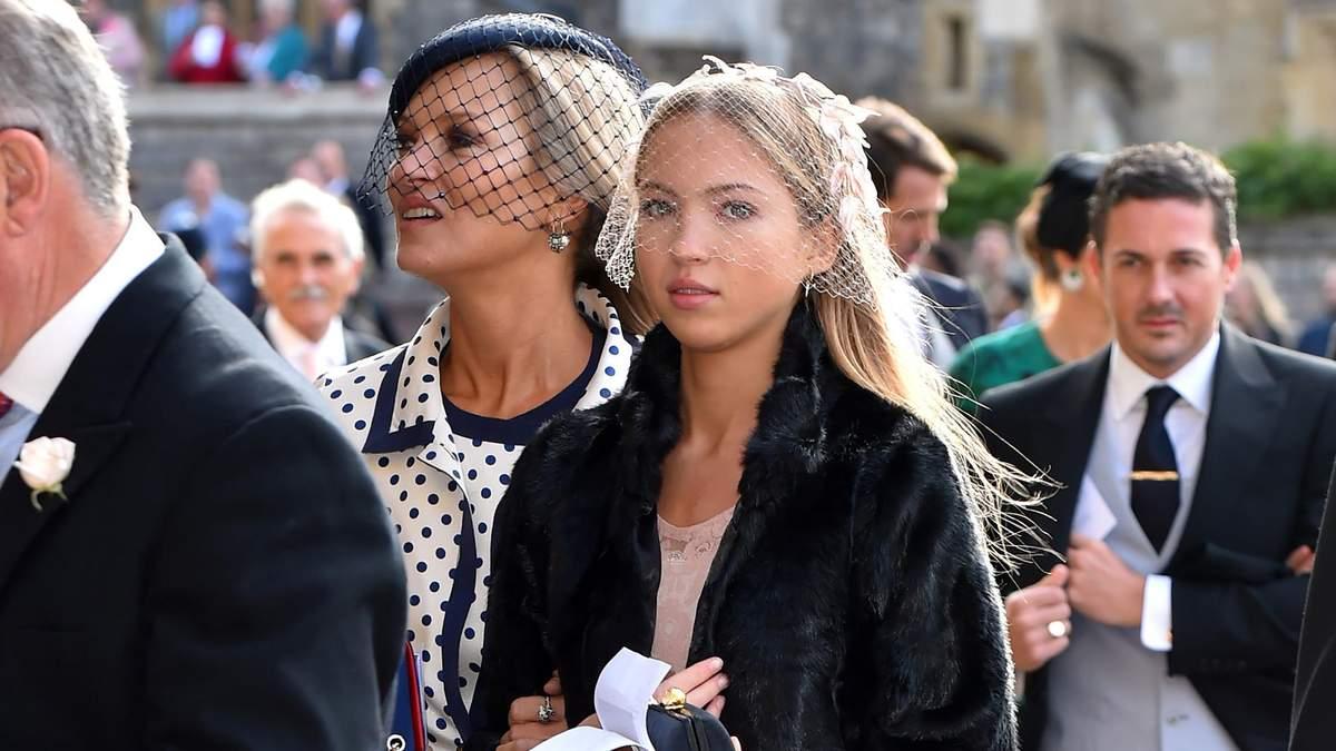 Кейт Мосс з донькою Лілою Мосс на весіллі принцеси Євгенії