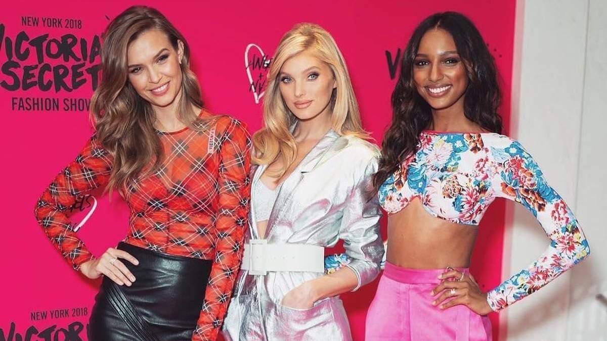 Ангельські будні: Ельза Госк, Жозефін Скрівер і Жасмін Тукс на заході Victoria's Secret