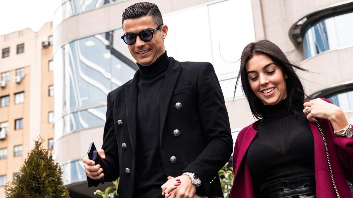 Криштиану Роналду и Джорджина Родригес в Мадриде