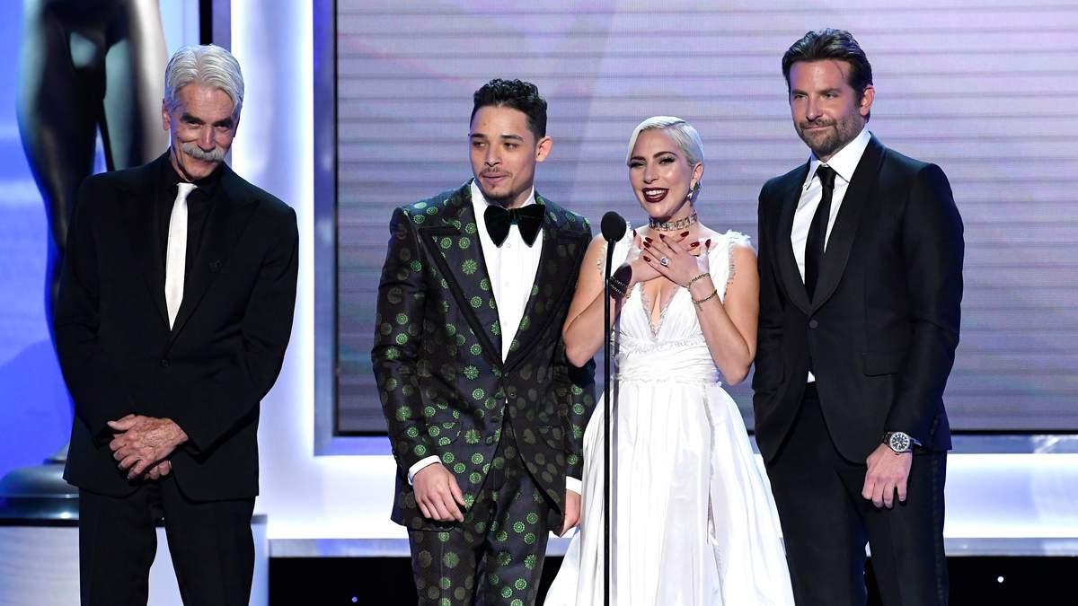 """Леді Гага, Бредлі Купер та інші актори з фільму """"Народження зірки"""""""