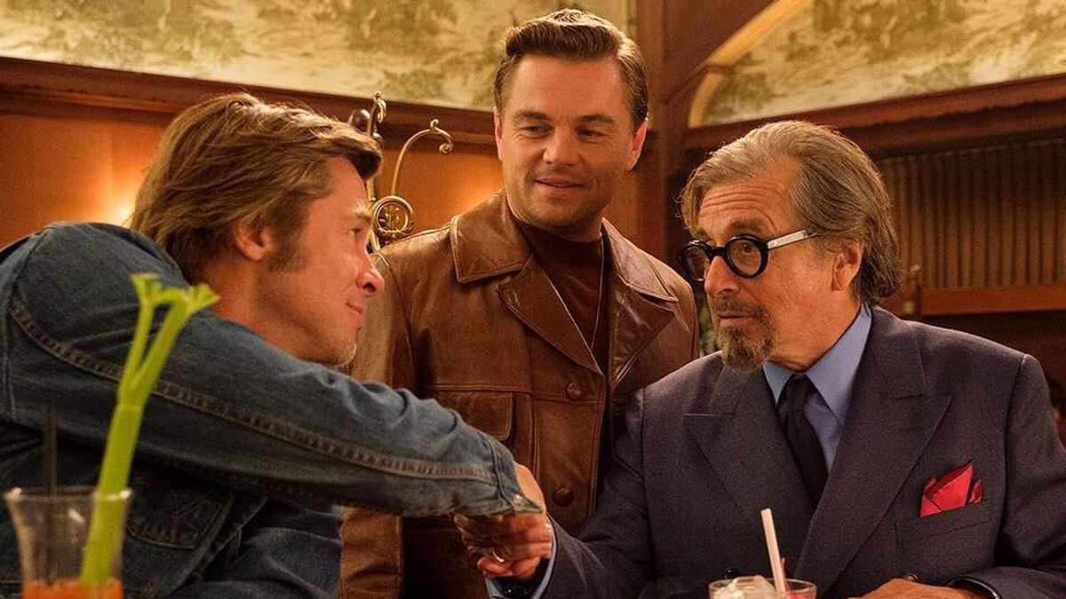 """Леонардо Ді Капріо і Бред Пітт у фільмі """"Одного разу в Голлівуді"""""""