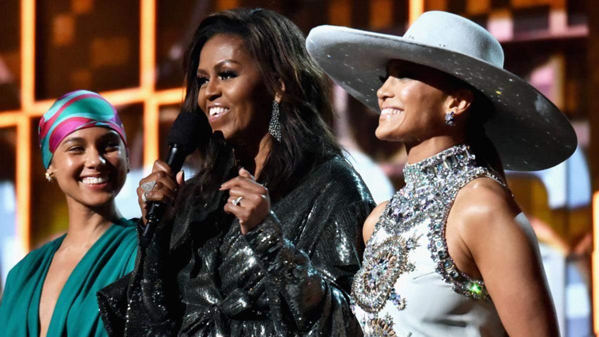 Мішель Обама несподівано з'явилась на Греммі-2019: ефектні фото