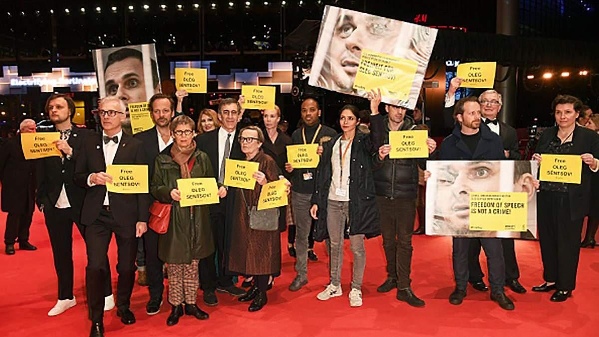 Флешмоб на червоній доріжці: режисери закликали звільнити Сенцова – фото
