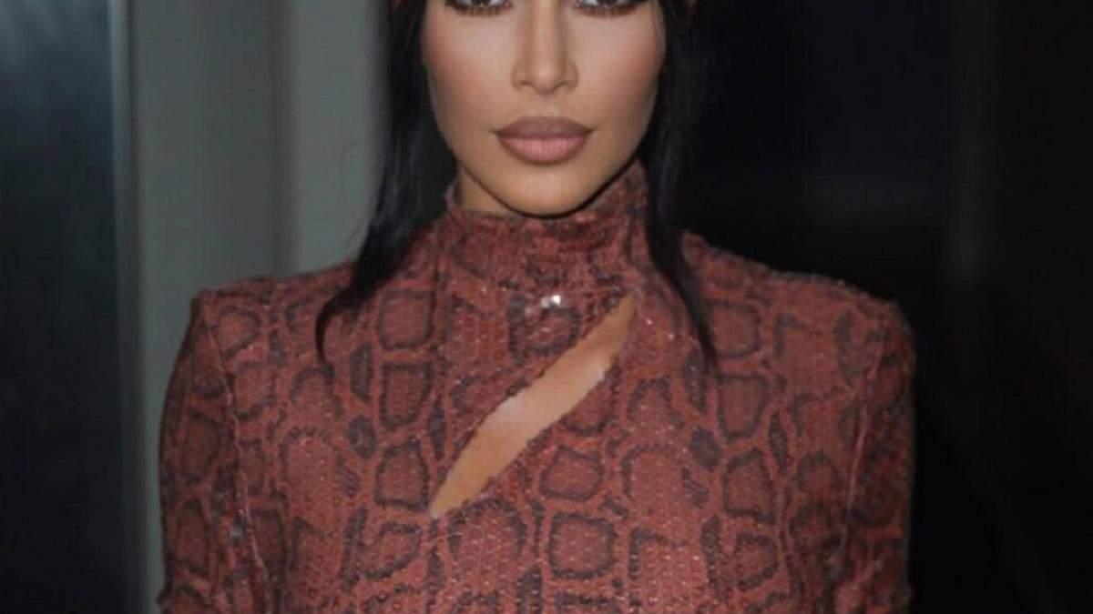 Вся в змеином: Ким Кардашян показала соблазнительный образ