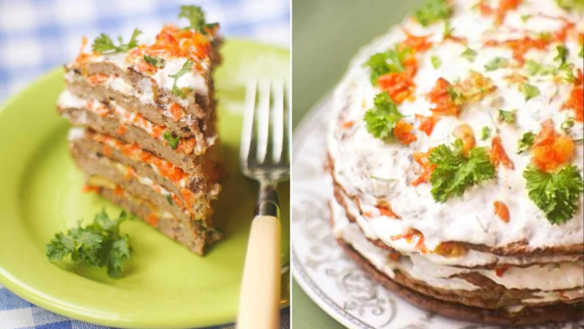 Печінковий торт - смачний рецепт приготування
