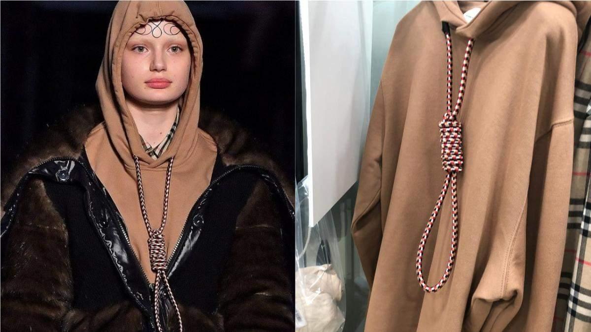 Суїцид не в моді: користувачі обурені одягом Burberry із зашморгом на шиї