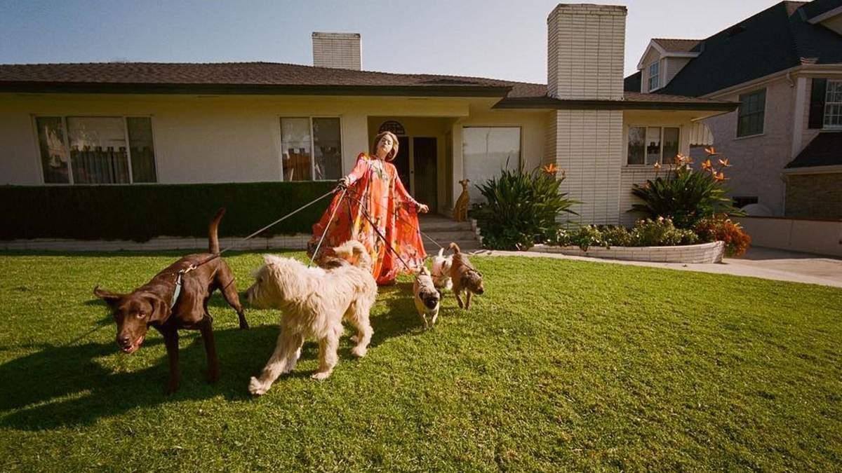 Очима Йоргоса Лантімоса: Емма Стоун знялася у вінтажній фотосесії з багатьма собаками