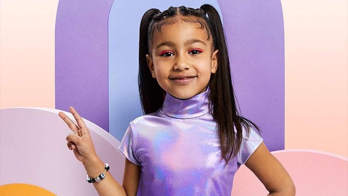 П'ятирічна донька Кім Кардашян Норт Вест вперше знялася для глянцю без мами: чарівні фото
