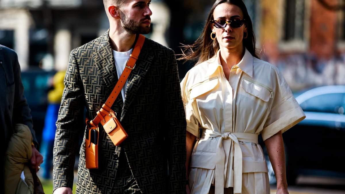 Street-style на Неделе моды в Милане