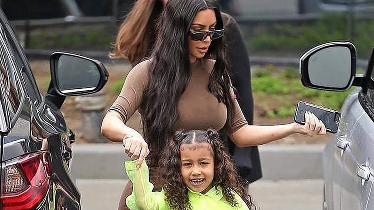 Ким Кардашян с дочерью Норт