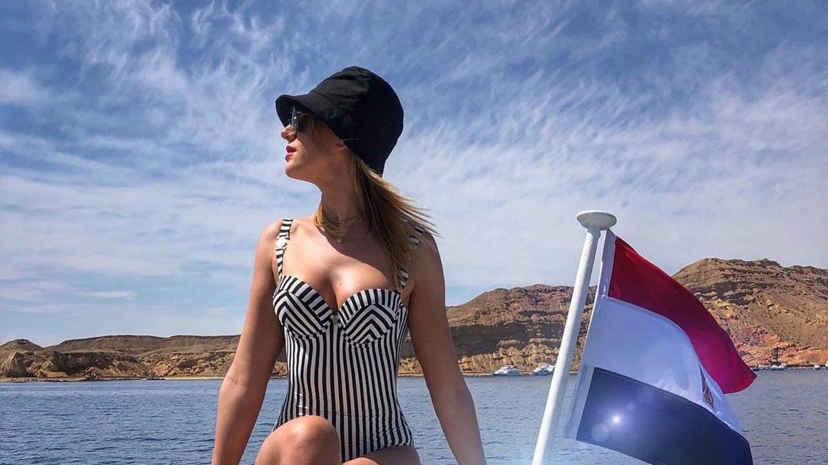 Леся Нікітюк на відпочинку в Єгипті