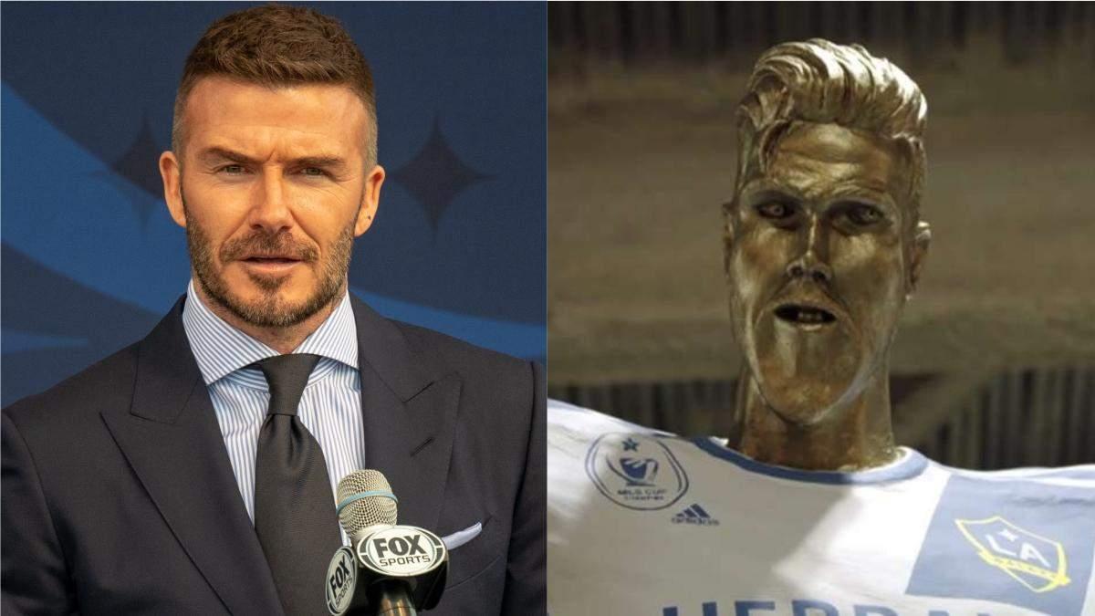 Девіду Бекхему показали його непривабливий пам'ятник: курйозна реакція футболіста – відео