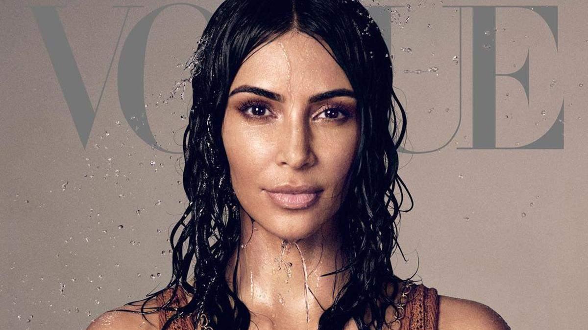 Ким Кардашян появилась на своей первой обложке американского Vogue: роскошные фото