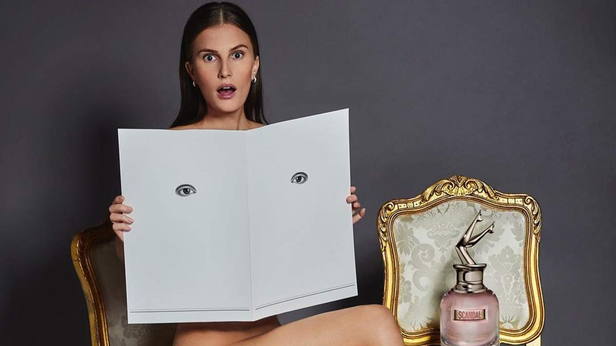 Алла Костромічова знялася оголеною для реклами аромату Jean Paul Gaultier