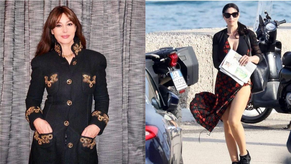 Моніка Беллуччі випадково оголила ноги у сукні з розрізом: пікантні фото