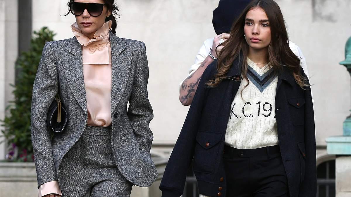 Попри чутки про ворожнечу: Вікторія Бекхем одягнула дівчину сина Хану Кросс в свій бренд – фото