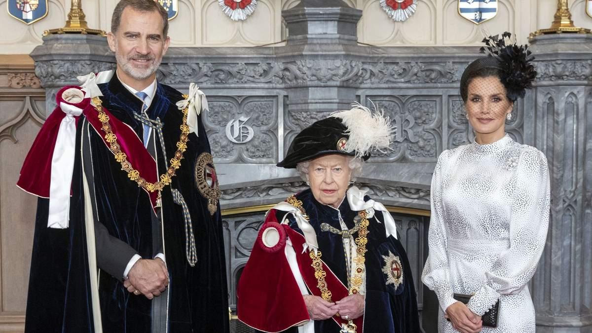 Королівське подружжя Іспанії на зустрічі з Єлизаветою ІІ