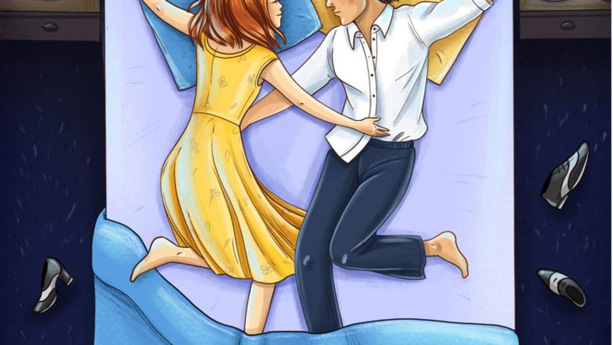 Позы сна похожи на разные фильмы