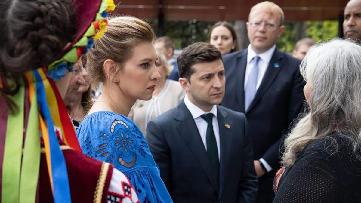 Яку сукню Олена Зеленська вибрала для вшанування жертв Голодомору: промовисті фото