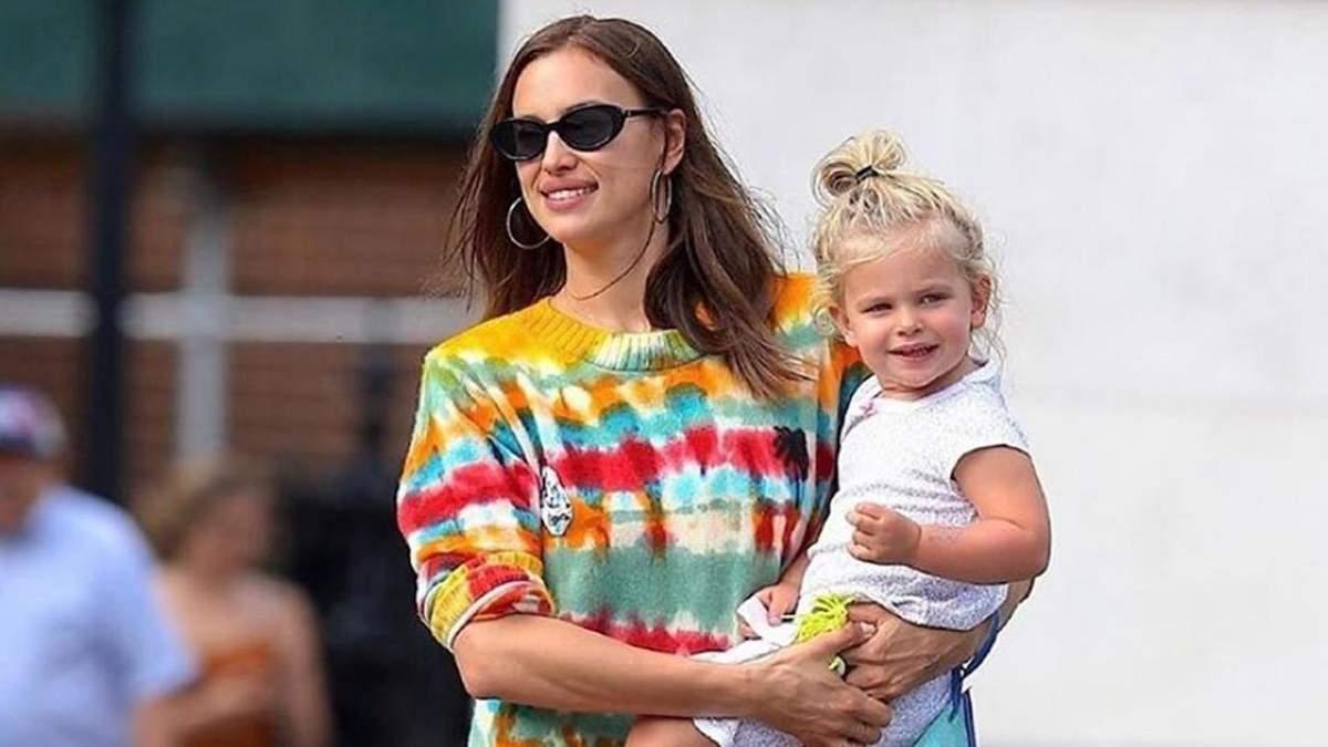 Ирина Шейк с дочкой Леей